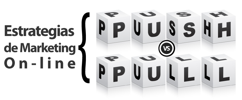 Estrategias push vs. pull, y el impacto del marketing online.